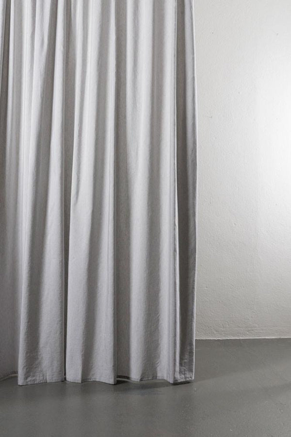 "Linen / Cotton Curtains - Azura Stone Cotton & Linen Curtains 300cm / 118"" Extra Wide - 006"
