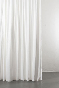 "Linen / Cotton Curtains - Azura White Cotton & Linen Curtains 300cm / 118"" Extra Wide - 001"