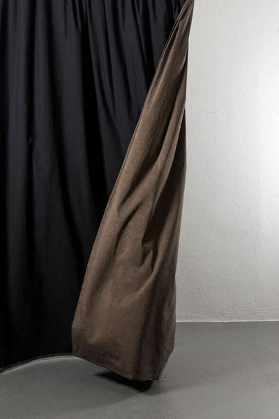 "Linen / Cotton Curtains - Belize Bronze / Black  Linen & Cotton Curtains 285cm / 112"" Extra Wide - 065"
