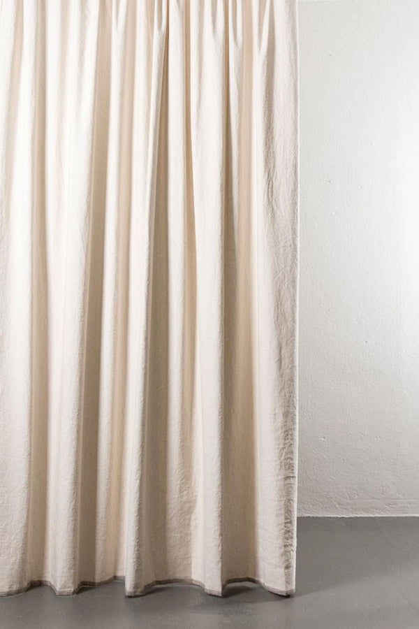 "Linen / Cotton Curtains - Belize Oatmeal / Brown Linen & Cotton Curtains 285cm / 112"" Extra Wide - 01"