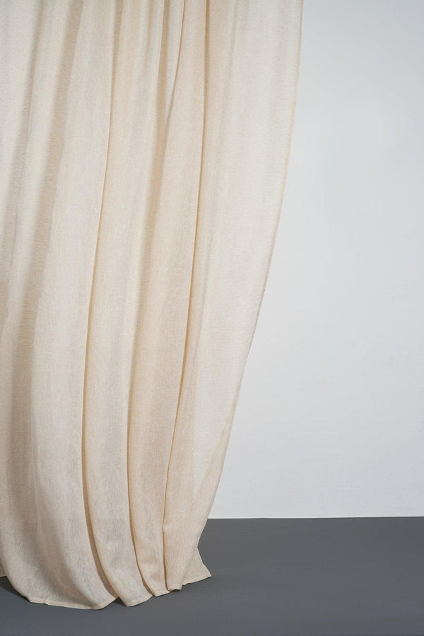 "Leinen Vorhaenge Linen Curtains - Beige Linen Curtains 300cm /118"" Extra Wide"
