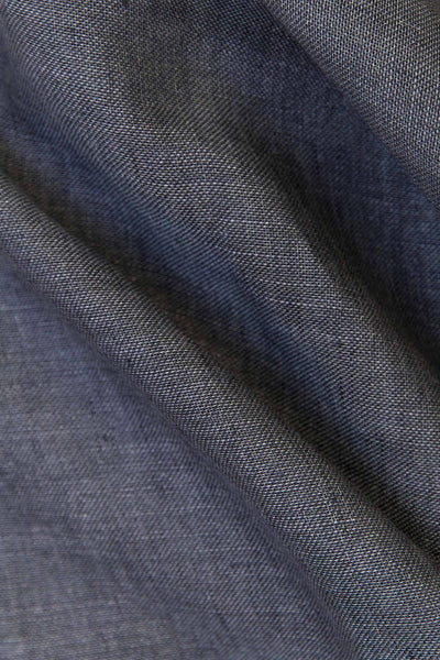 "Linen Curtains - Blue Linen Curtains 300cm / 118"" Extra Wide"
