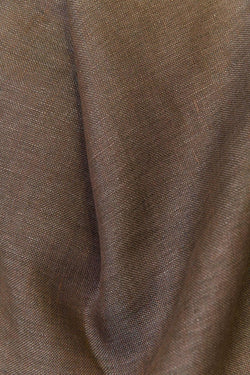 "Linen Curtains - Chestnut Brown Linen Curtains 300cm /118"" Extra Wide"