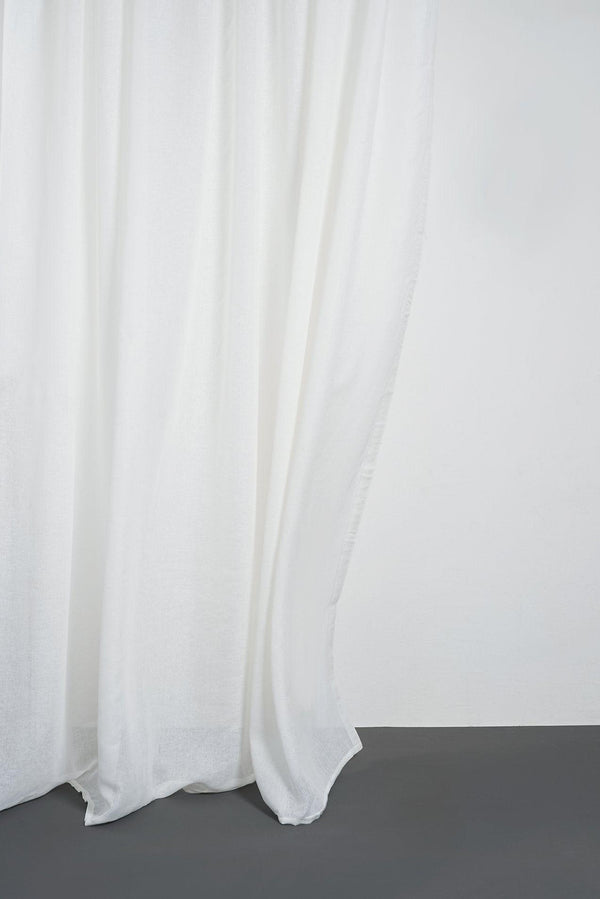 "Leinen Vorhaenge Linen Curtains - Cream Linen Curtains 300cm / 118"" Extra Wide"