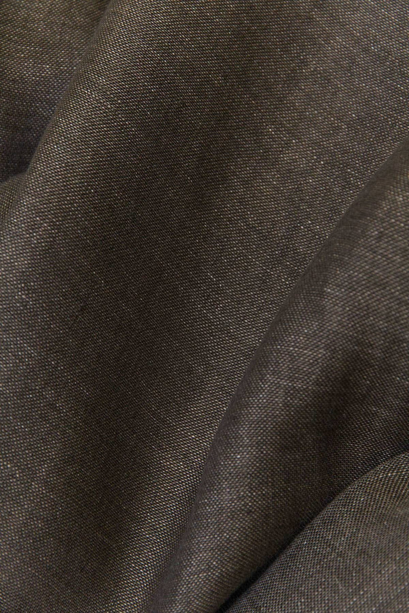 "Linen Curtains - Dark Brown Linen Curtains 300cm /118"" Extra Wide"