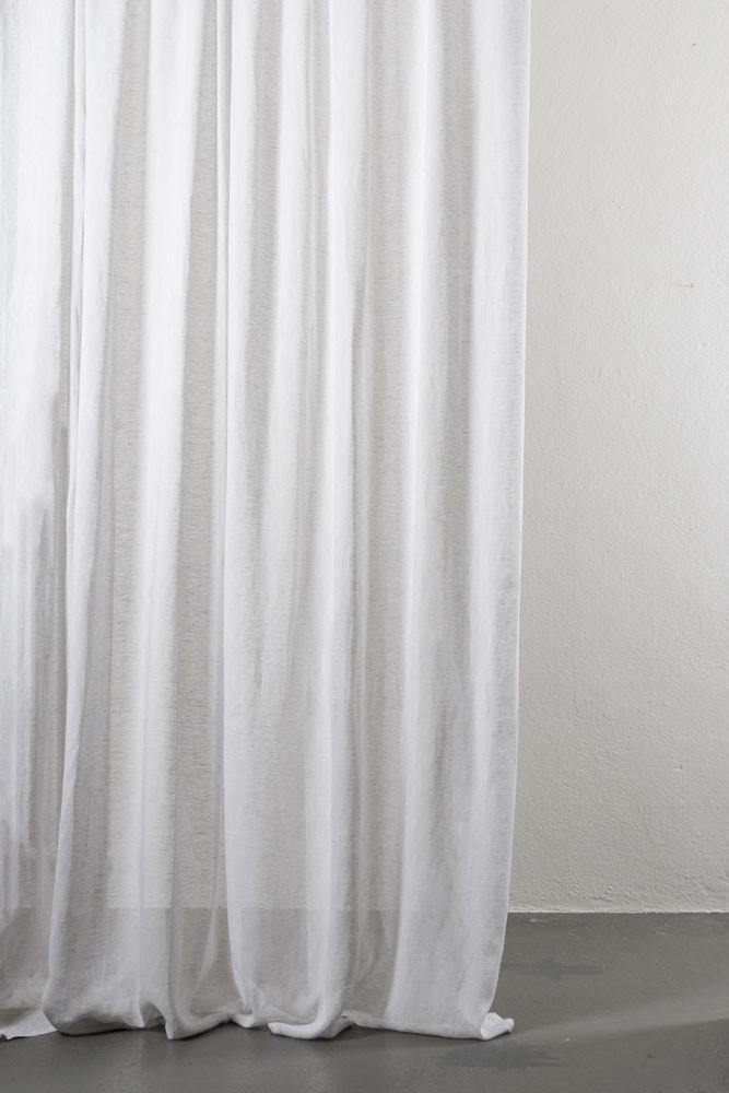 Light Grey Linen Curtains 300cm 118 Inches Wide