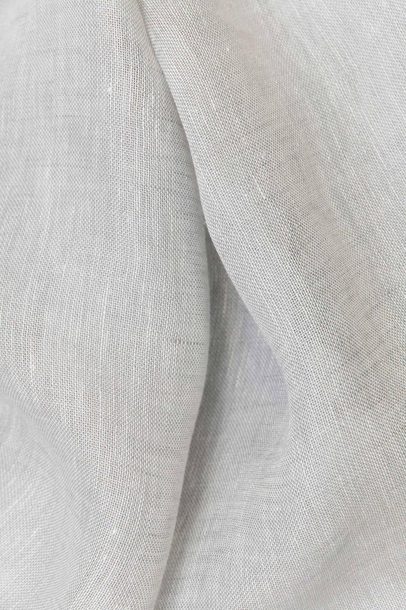 Linen Curtains - Light Grey Linen Curtains 300cm /118 Inches Wide