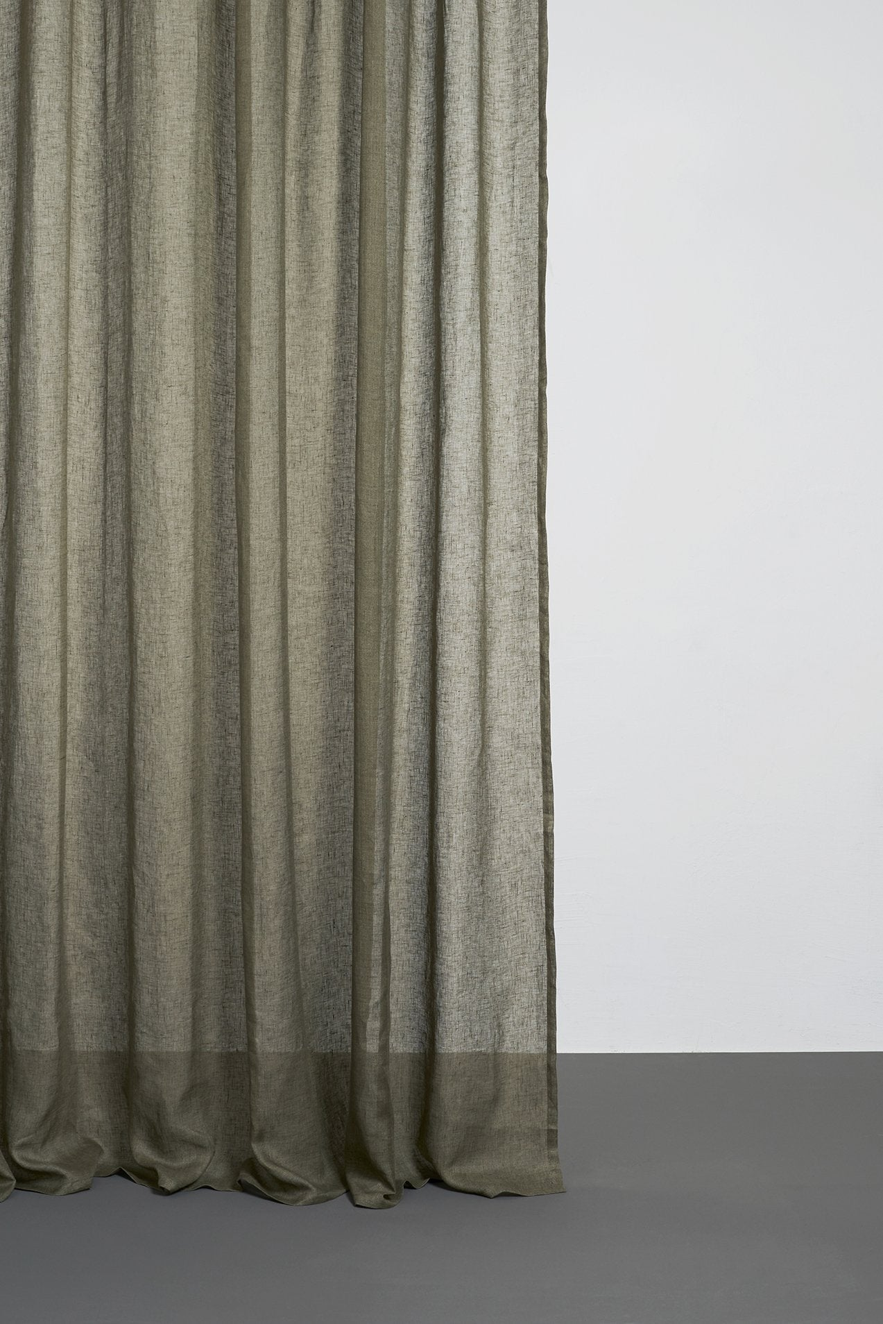 Olive Green Linen Curtains 300cm 118 Inches Extra Wide Zigzagzurich