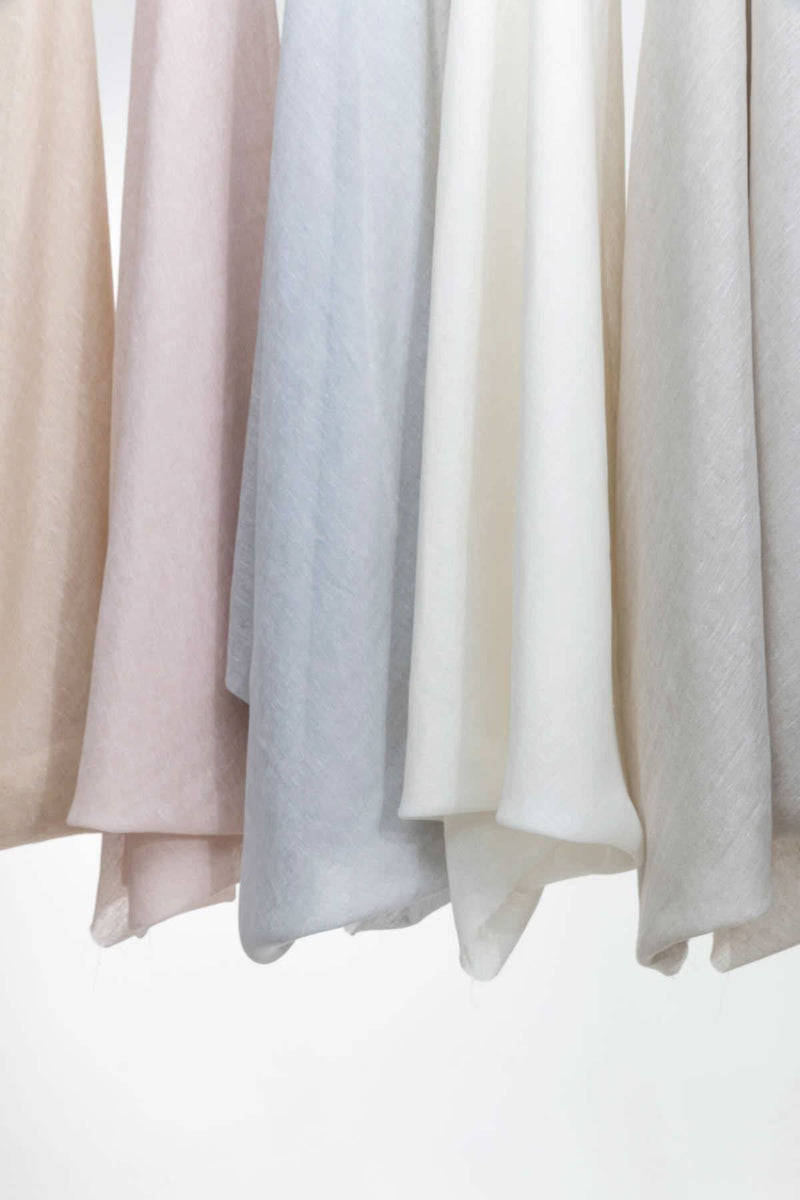 "Linen Curtains - Sand Linen Curtains 300cm / 118"" Extra Wide"