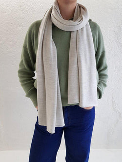 Merino Wool Scarves - XL Merino Wool Scarves - Col. Heather Grey
