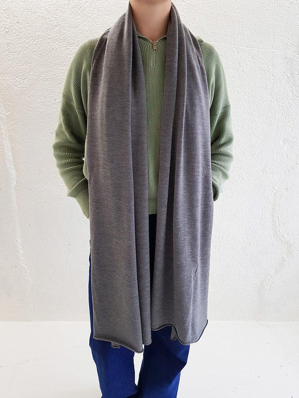 Merino Wool Scarves - XL Merino Wool Scarves - Col. Stone Grey