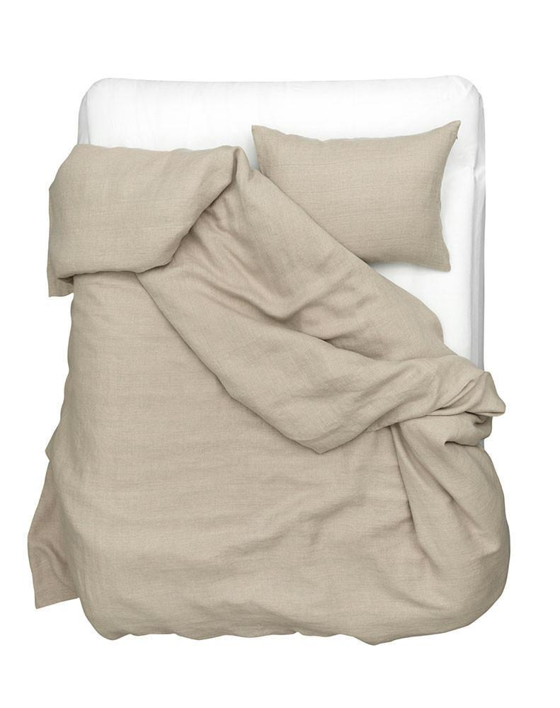 Natural Linen Bedding - Natural Flax Panama Linen Duvet Covers / Pillows