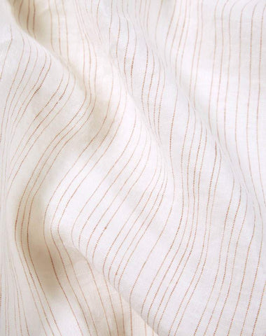 Shell Rose Pinstripe Linen Duvet Covers / Pillows - Yarn Dyed