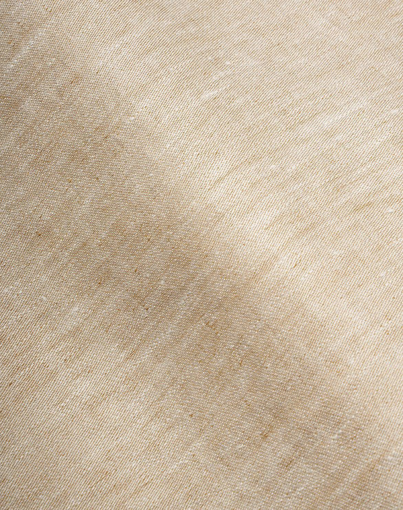 Natural Linen Bedding - Two Tone Stonewashed Linen Bedding Col. Curry