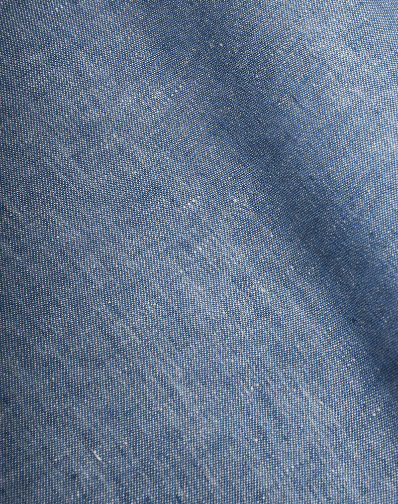 Natural Linen Bedding - Two Tone Stonewashed Linen Bedding Col. Denim