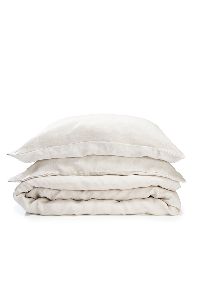 Natural Linen Bedding - Two Tone Stonewashed Linen Bedding Col. Nature Leinen Bettwäsche