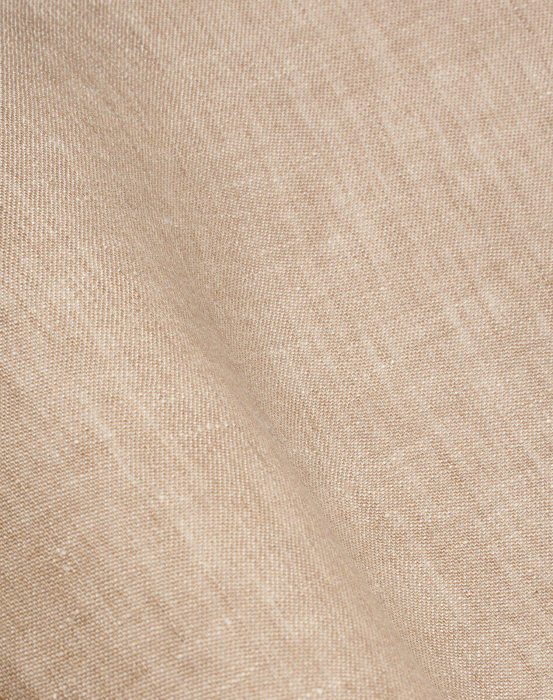 Natural Linen Bedding - Two Tone Stonewashed Linen Bedding Col. Sand
