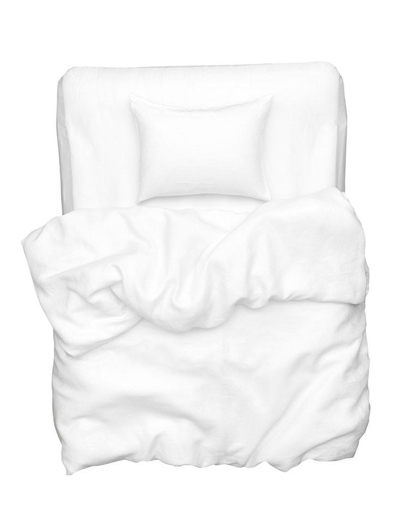 Natural Linen Bedding - White Panama Linen Duvet Covers / Pillows