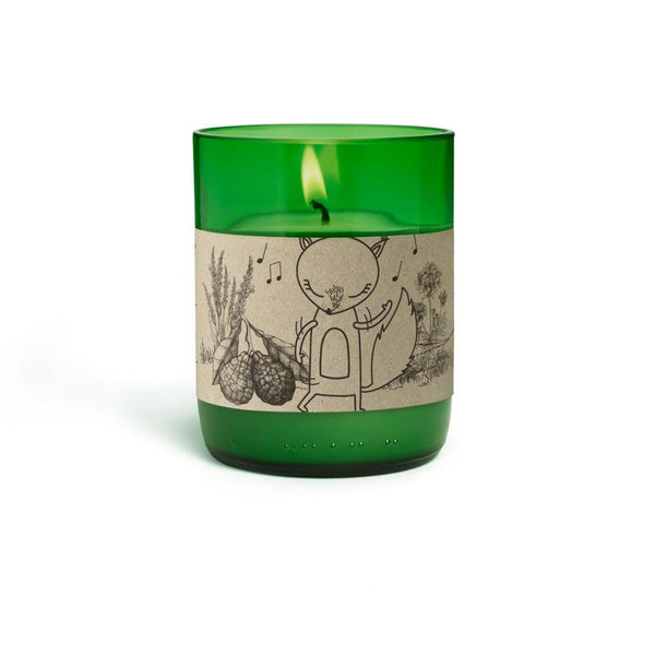 Natural Scented Candles - Looops Natural Scented Candles - Flower Meadow - Clary Sage, Niaouli, Bergamot, Lavender, Rose Geranium, Benzoin,