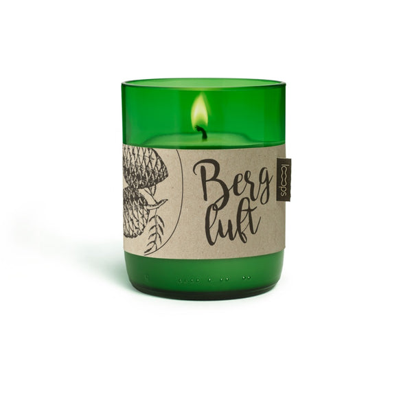 Natural Scented Candles - Looops Natural Scented Candles - Mountain Air - Swiss Stone Pine, Juniper Wood, Lemon