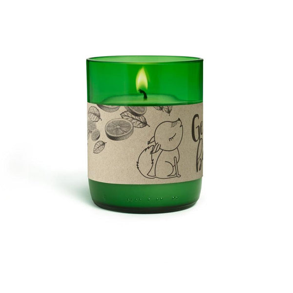 Natural Scented Candles - Looops Natural Scented Candles - Mountain Stream - Peppermint, Lemon And Palmarosa