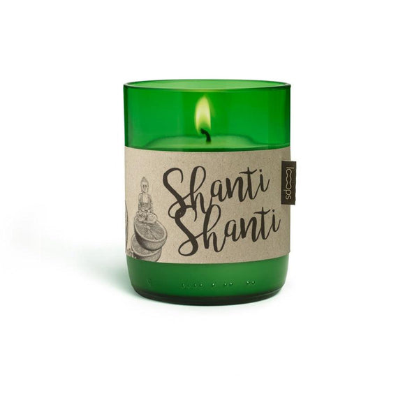 Natural Scented Candles - Looops Natural Scented Candles - Shanti Shanti - West Indian Sandalwood, Lime, Mountain Pine, Frankincense And A Dash Of Our Rosenmeer Mixture