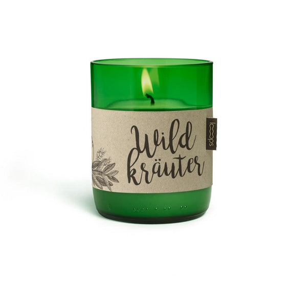 Natural Scented Candles - Looops Natural Scented Candles - Wild Herbs - Sage, Rosemary, Juniper, Peppermint And Lavender