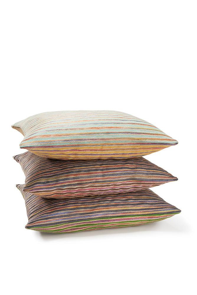 Raffia Cushions & Pillows - Acapulco Raffia Pillows And Cushions - Green / Indigo