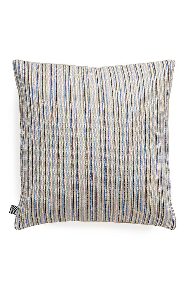 Raffia Cushions & Pillows - Ipanema Raffia Pillows And Cushions - Col. Blue / Grey