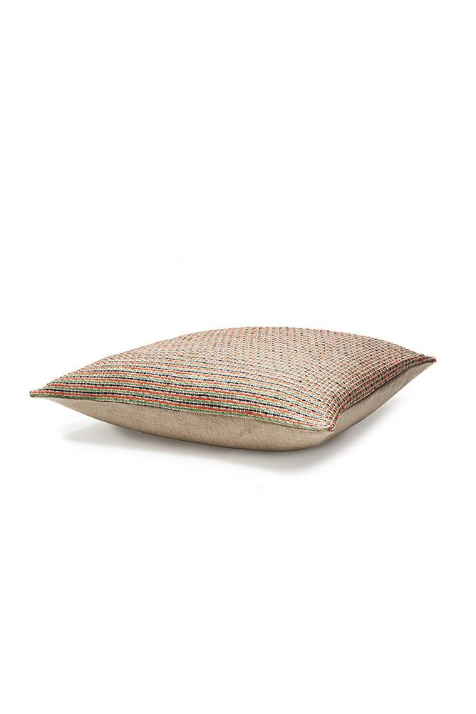 Raffia Cushions & Pillows - Ipanema Raffia Pillows And Cushions - Col. Orange / Green