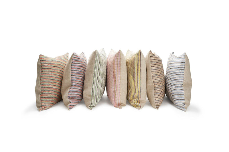 Raffia Cushions & Pillows - Ipanema Raffia Pillows And Cushions - Col. Rose