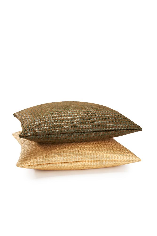 Raffia Cushions & Pillows - Tulum Raffia Pillows And Cushions - Khaki