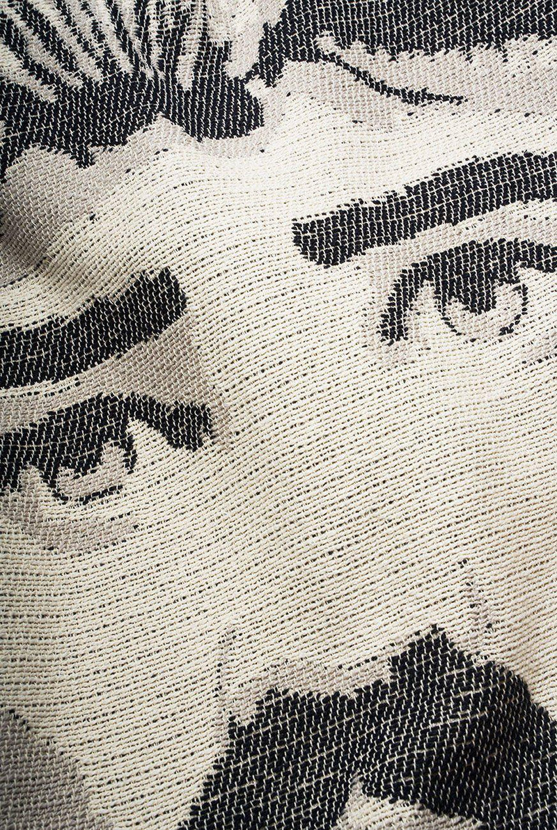 Summer Cotton Throws & Towels - Lorenzo Col. Black / White Blankets & Throws By Michele Rondelli