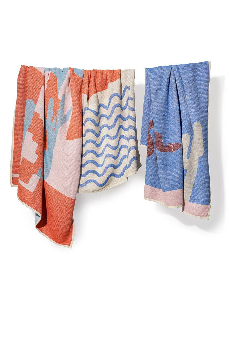 Summer Cotton Throws & Towels - Paros Blankets & Throws By Sophie Probst