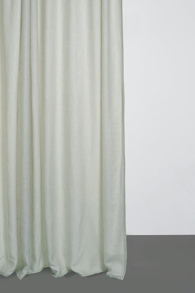 Two Tone Linen Curtains - Two Tone Stonewashed Linen Curtains - Col. Mint