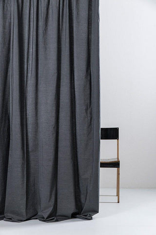 Anthracite Egyptian Cotton Curtains ( col 07 )