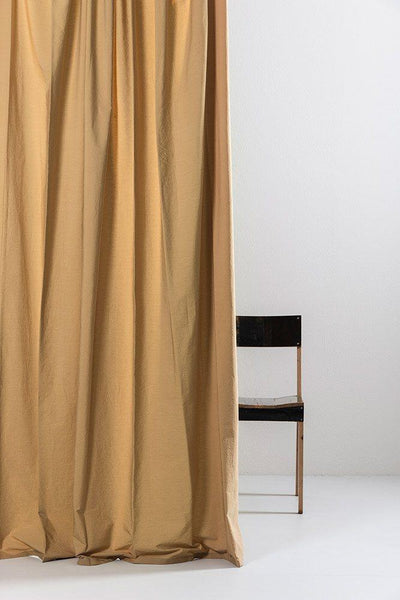 "Cognac Egyptian Cotton Curtains 300cm /118""Wide ( col 18 ) - ZigZagZurich  - 1"