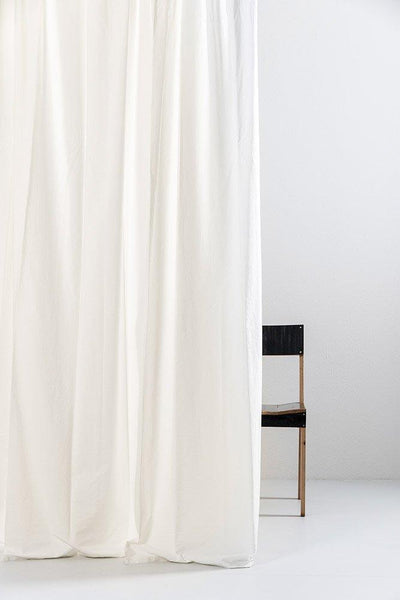 "Cream Egyptian Cotton Curtains 300cm /118""Wide ( col 10 ) - ZigZagZurich  - 1"