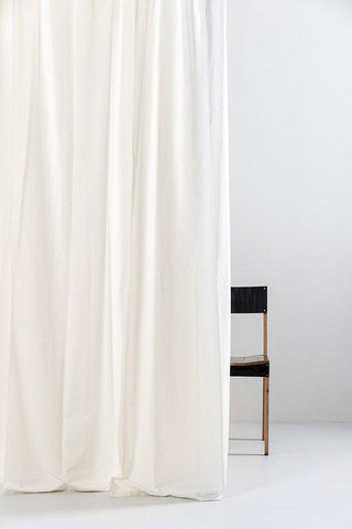 "Cream Egyptian Cotton Curtains 300cm /118"" ( col 10 )"