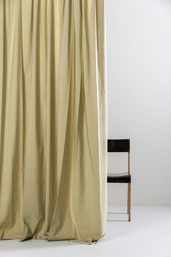 "Vintage Egyptian Cotton Curtains - Khaki Egyptian Cotton Curtains 300cm /118""Wide ( Col 19 )"