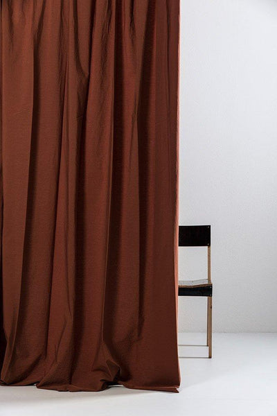 "Rust Brown Egyptian Cotton Curtains 300cm /118""Wide ( col 25 )"
