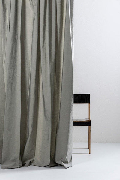 "Sage Egyptian Cotton Curtains 300cm /118""Wide ( col 05 ) - ZigZagZurich  - 1"
