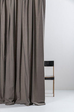 "Vintage Egyptian Cotton Curtains - Stone Egyptian Cotton Curtains 300cm /118"" Wide ( Col 09 )"
