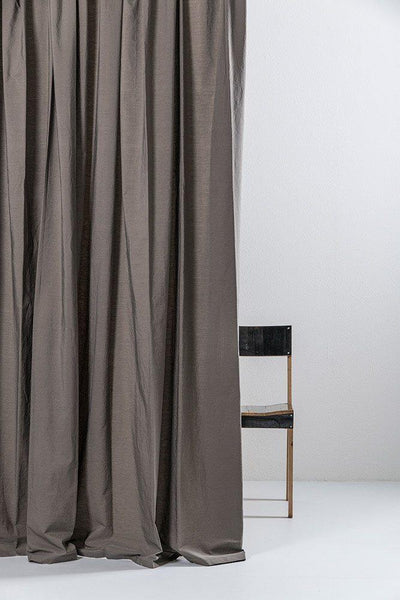 "Stone Egyptian Cotton Curtains 300cm /118"" Wide ( col 09 )"