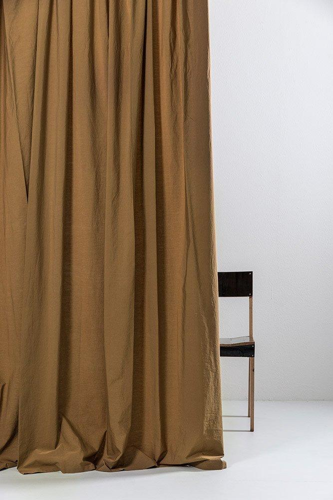 "Walnut Egyptian Cotton Curtains 300cm /118""Wide ( col 22 ) - ZigZagZurich  - 1"