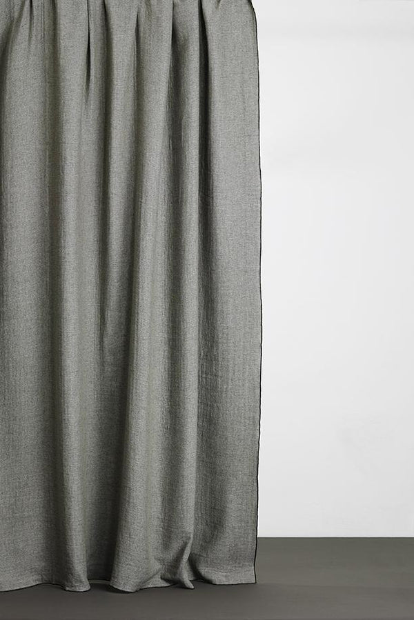Wool / Cotton Curtains - Mona Wool And Cotton Curtains Forest / Green  - Extra Wide