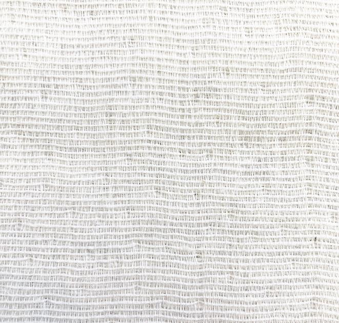 Wool / Cotton Curtains - Mona Wool And Cotton Curtains White / Light Grey - Extra Wide