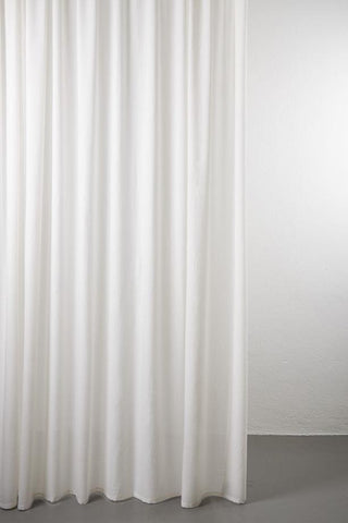 "Sydney 100% Pure Wool Curtain 300cm / 118"" Extra Wide - Cream White 001"
