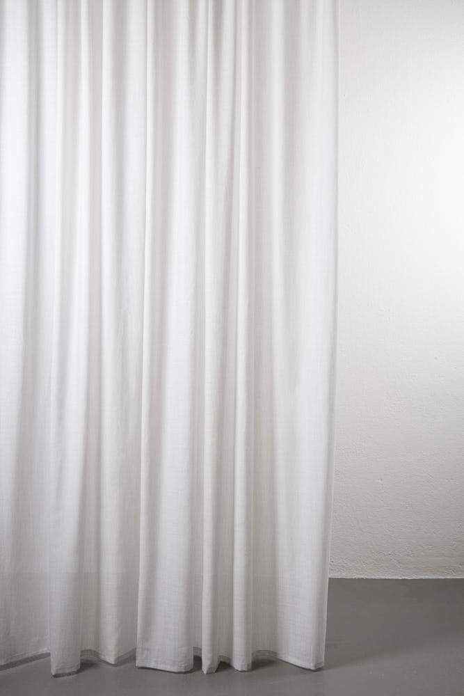 "Wool Curtains - Sydney 100% Pure Wool Curtain 300cm / 118"" Extra Wide - Melange Grey 005"