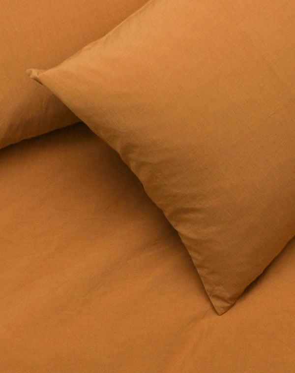 Yarn Dyed Egyptian Cotton Vintage Bedding - Vintage Egyptian Cotton Duvet Covers And Pillows - Amber ( Col 26)